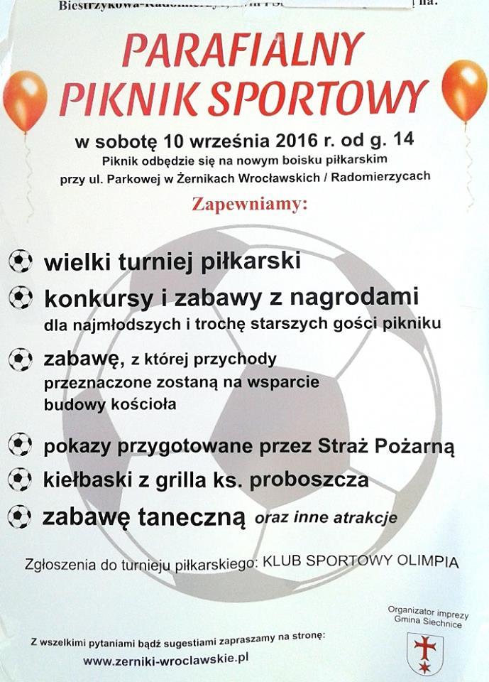 Parafialny Piknik Sportowy - 10.09.2016r.