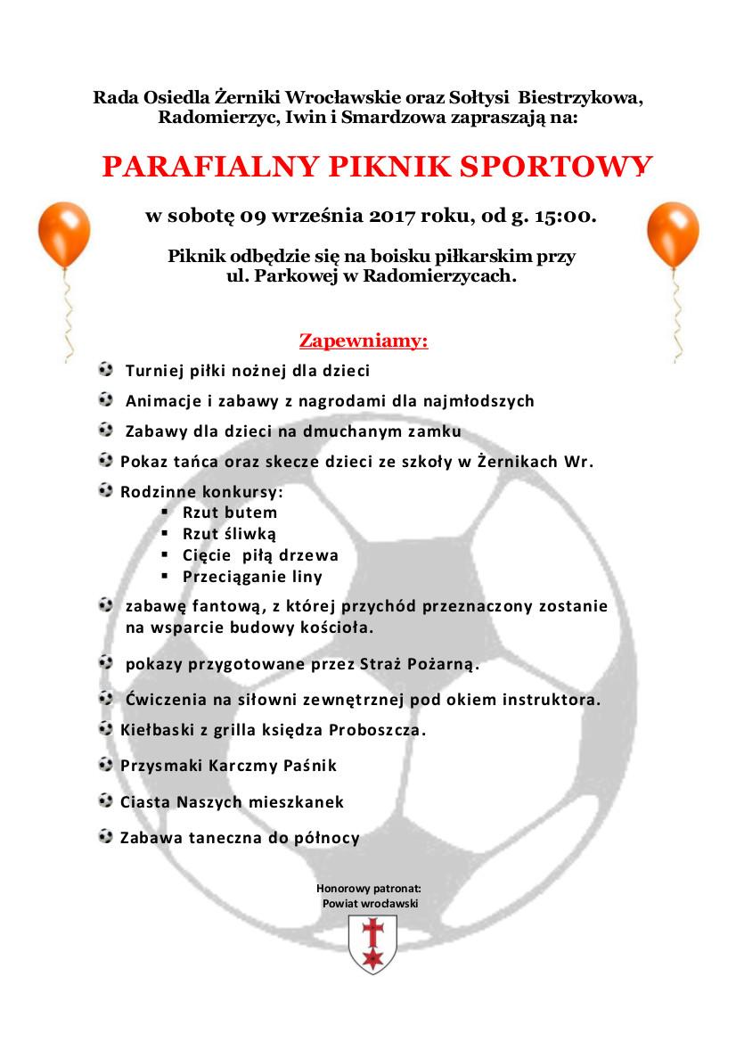 Parafialny Piknik Sportowy - 09.09.2017